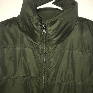 Dark Olive Green Puffer Vest